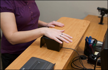 Biometric check in - your digital photo will be taken