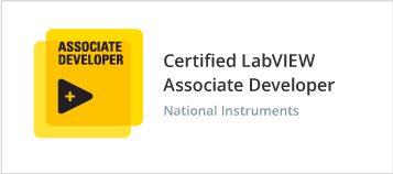 Certified Labview Associate Developer