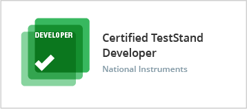 Certified Teststand Developer